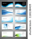 abstract various business card... | Shutterstock .eps vector #118138435