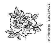 tattoo rose flower. mystic... | Shutterstock .eps vector #1181389321