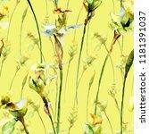 seamless wallpaper with... | Shutterstock . vector #1181391037
