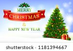 text merry christmas and happy... | Shutterstock .eps vector #1181394667