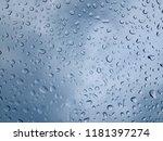 rain drops on window glasses.... | Shutterstock . vector #1181397274
