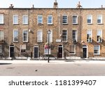 front facades and arched doors... | Shutterstock . vector #1181399407