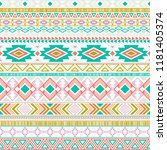 mexican american indian pattern ... | Shutterstock .eps vector #1181405374