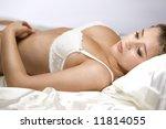 beautiful young girl lying down ... | Shutterstock . vector #11814055