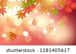 autumn maple leaves with... | Shutterstock .eps vector #1181405617