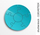 puzzle five piece business... | Shutterstock . vector #1181407024