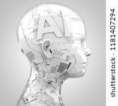 3d rendering  robotics and... | Shutterstock . vector #1181407294