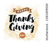 thanksgiving day. logo  text... | Shutterstock .eps vector #1181409034