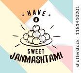 happy janmashtami. vector logo... | Shutterstock .eps vector #1181410201