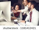 business teamwork  team of... | Shutterstock . vector #1181412421