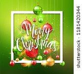 merry christmas card  postcard  ... | Shutterstock .eps vector #1181420344