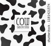 Cow Skin Texture Black And...