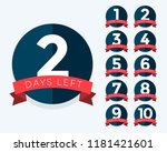 number of days left badge... | Shutterstock .eps vector #1181421601