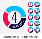 countdown timer showing number... | Shutterstock .eps vector #1181421604