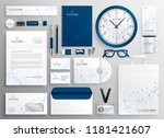 business stationery set in... | Shutterstock .eps vector #1181421607