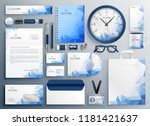 abstract blue business... | Shutterstock .eps vector #1181421637