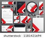 red professional business... | Shutterstock .eps vector #1181421694