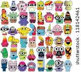 monsters   vector set | Shutterstock .eps vector #118142461