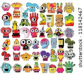 monsters   vector set | Shutterstock .eps vector #118142467