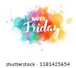watercolor imitation splash... | Shutterstock .eps vector #1181425654
