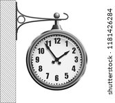 train station clock isolated on ...   Shutterstock .eps vector #1181426284