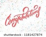 congratulations. vector... | Shutterstock .eps vector #1181427874
