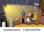 winter vector greeting card...   Shutterstock .eps vector #1181430394