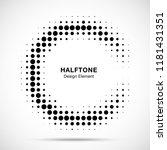 halftone circular frame... | Shutterstock .eps vector #1181431351