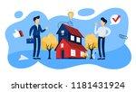 real estate agent or broker... | Shutterstock .eps vector #1181431924