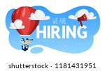 we are hiring. people on the... | Shutterstock .eps vector #1181431951
