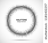 halftone circle frame dots logo ... | Shutterstock .eps vector #1181432257