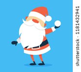 happy funny santa claus in red...   Shutterstock .eps vector #1181432941