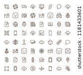 social network icon set.... | Shutterstock .eps vector #1181433601