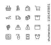 online supermarket flat icon... | Shutterstock .eps vector #1181435851