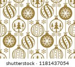 christmas baubles decoration... | Shutterstock .eps vector #1181437054