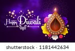 happy diwali. traditional... | Shutterstock .eps vector #1181442634