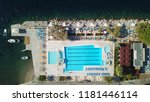 aerial drone photo of tropical... | Shutterstock . vector #1181446114