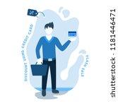 man shopping using credit card... | Shutterstock .eps vector #1181446471