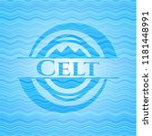 Stock vector celt sky blue water emblem background 1181448991