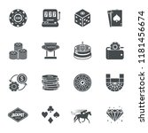 casino gambling bet icons.... | Shutterstock .eps vector #1181456674