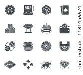 casino gambling bet icons.... | Shutterstock .eps vector #1181456674