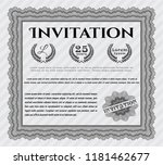grey retro vintage invitation.... | Shutterstock .eps vector #1181462677