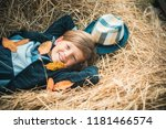autumn clothing and color kids... | Shutterstock . vector #1181466574