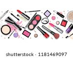 cosmetics set  hand drawn style ... | Shutterstock .eps vector #1181469097