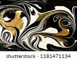 gold marbling texture design.... | Shutterstock . vector #1181471134