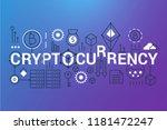 cryptocurrency word trendy... | Shutterstock .eps vector #1181472247