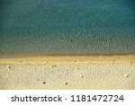 crystal clear water and sandy... | Shutterstock . vector #1181472724