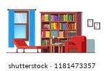 psychologist office with couch  ... | Shutterstock .eps vector #1181473357