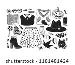 hand drawn illustration outfit... | Shutterstock .eps vector #1181481424