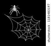 cobweb  isolated on black... | Shutterstock .eps vector #1181483197